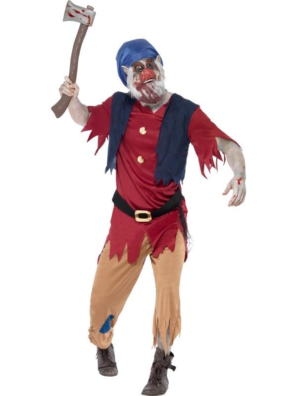 Zombie Dwerg Horror Sprookjes Heren Kostuum