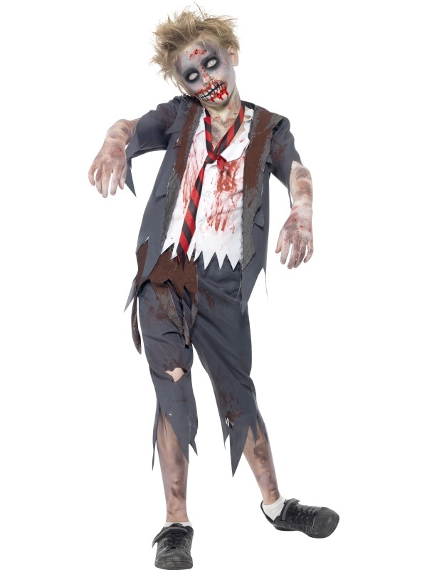 Zombie School Boy Horror Jongens Kostuum