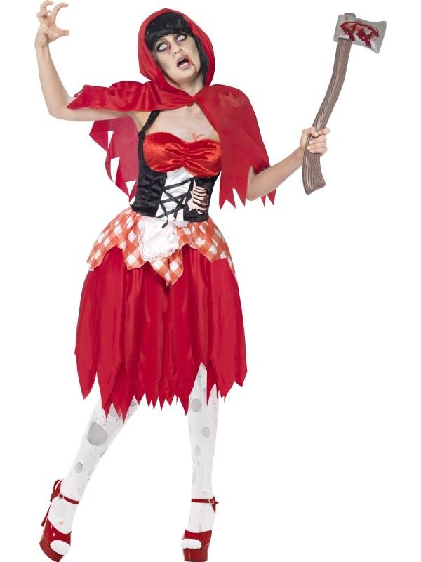 Zombie Roodkapje Horror Sprookjes Kostuum