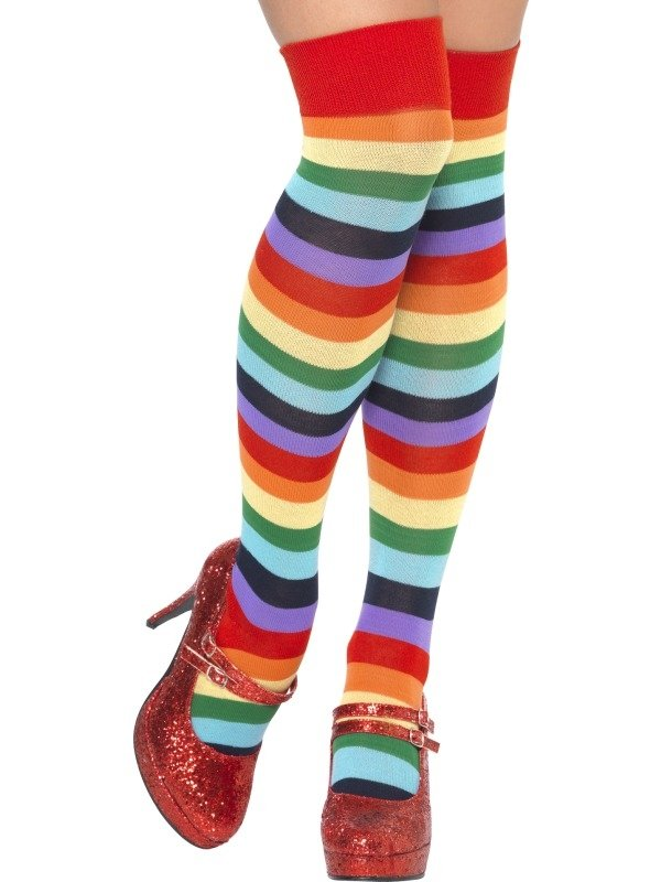 Gekleurde Gestreepte Clown Sokken Kousen