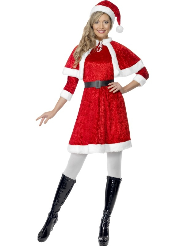 Miss Santa Kostuum met Cape