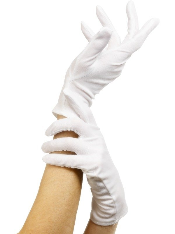 Witte Korte Handschoenen