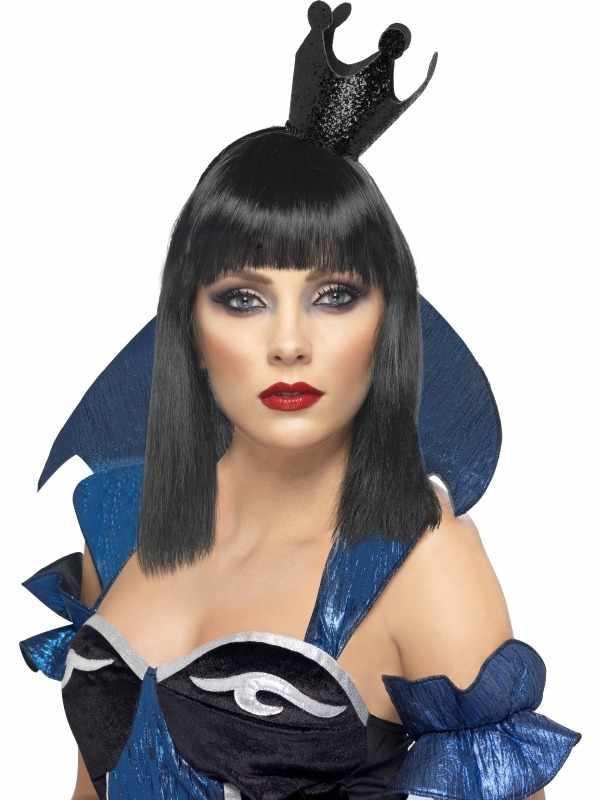 Evil Queen Mini Zwarte Kroon met Glitters