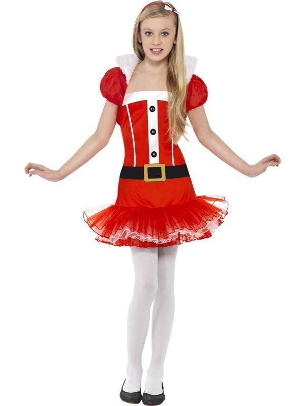 Little Miss Santa Kerstvrouw Kostuum met Tutu