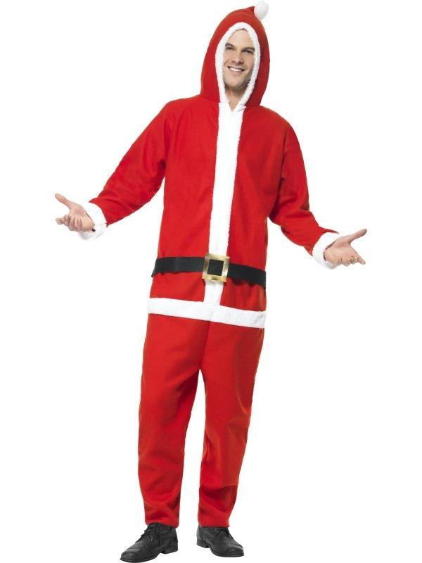 Kerstman Heren Onesie Kostuum