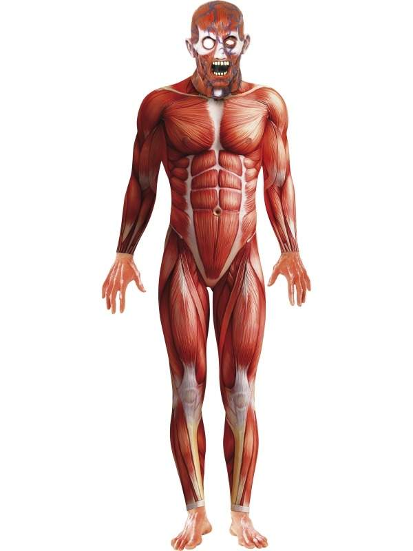 Anatomy Man Second Skin Morph Suit Verkleedkleding