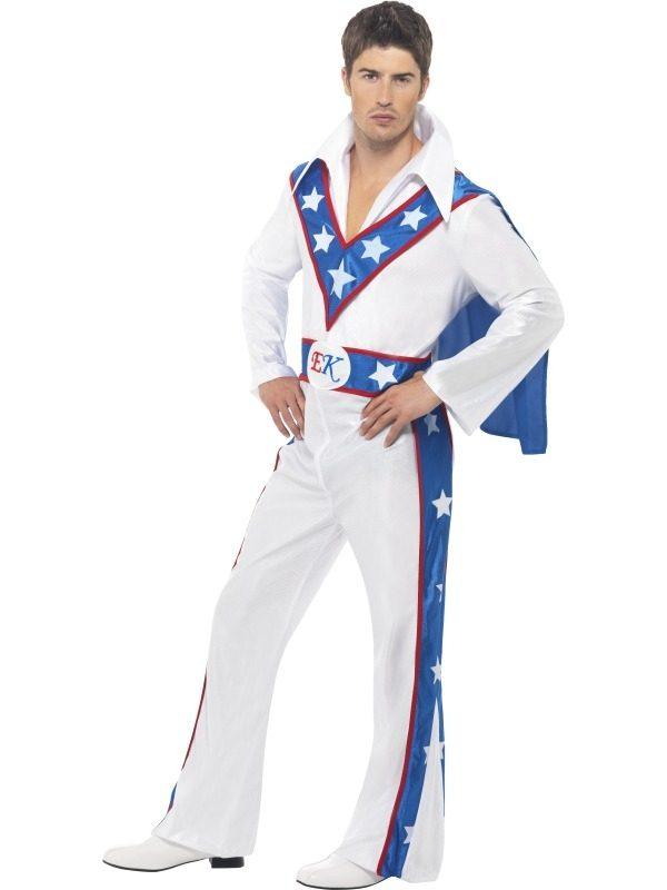 Evel Knievel Heren Verkleedkleding