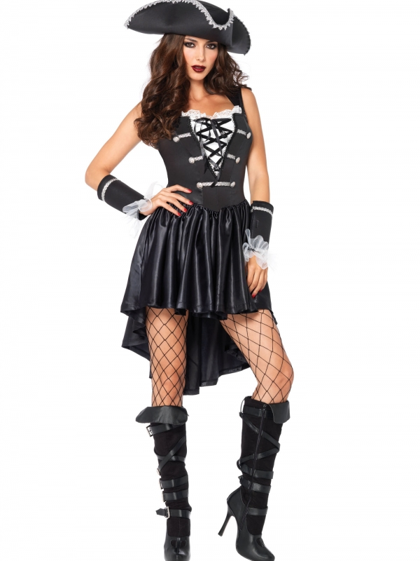 Kapitein Black Heart Piraten Verkleedkleding