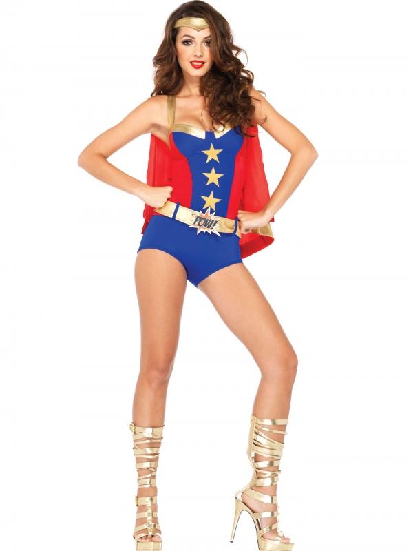 Comic Book Superhero Held Dames Kostuum