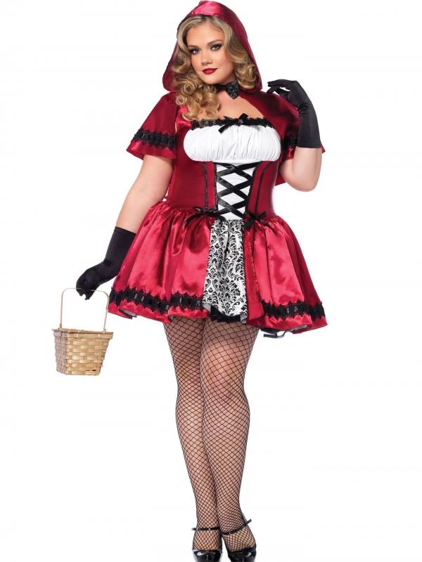 Gothic Red Riding Hood Plus Kostuum