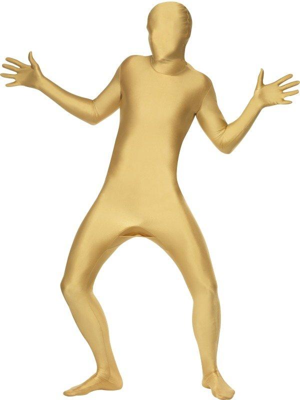Second Skin Morph Suit Verkleedkleding Goud