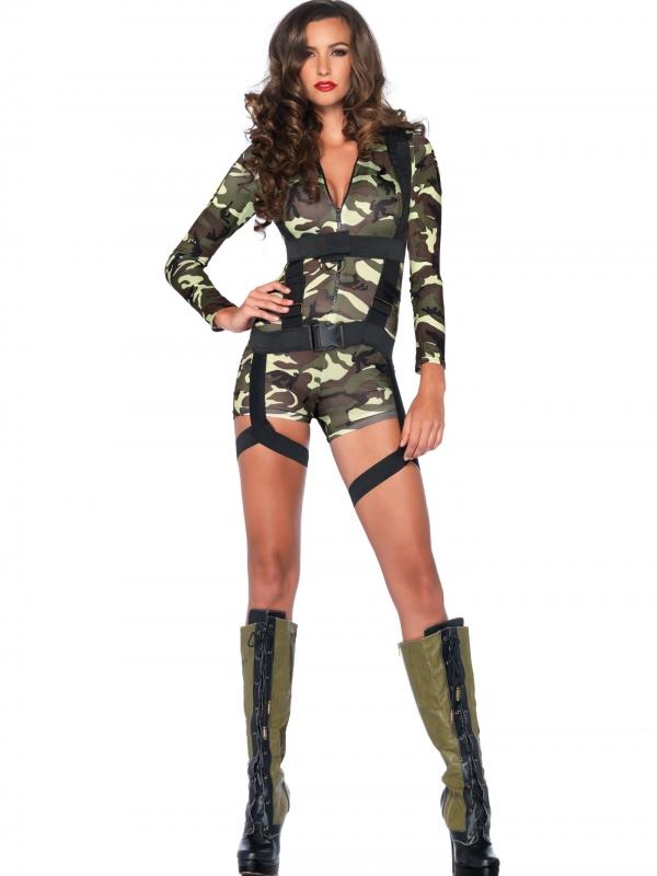Exclusief Leger Commando Dames Kostuum