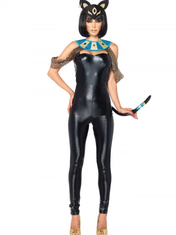 Egyptian Cat Goddess Dames Kostuum