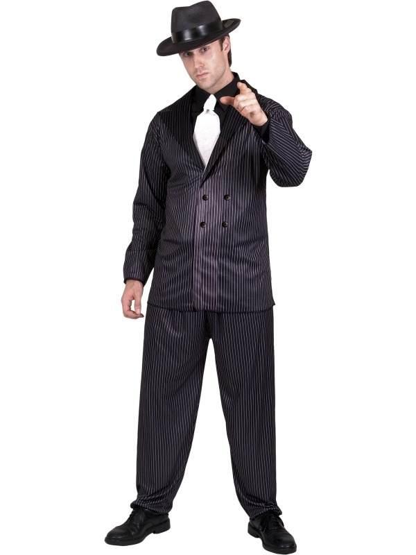 Gangster Krijtstreep Heren Kostuum