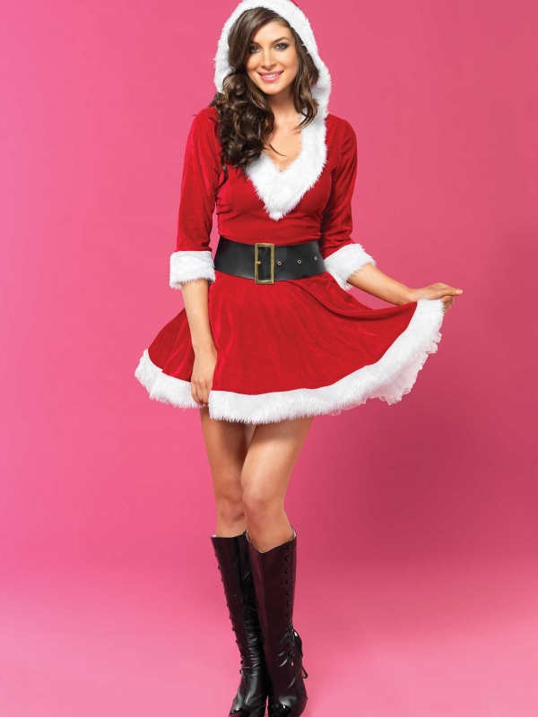 Mrs. Claus Hooded Dress