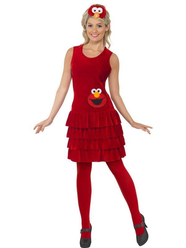 Sesam Straat Elmo Dames Verkleedkleding