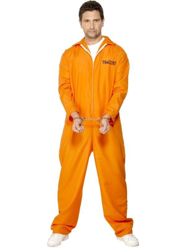 Gevangenen Boeven Heren Verkleedkleding Oranje