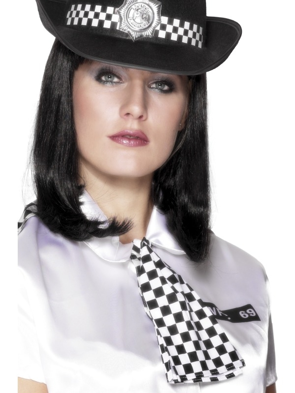 Geblokt Zwart/Wit Politie Sjaal