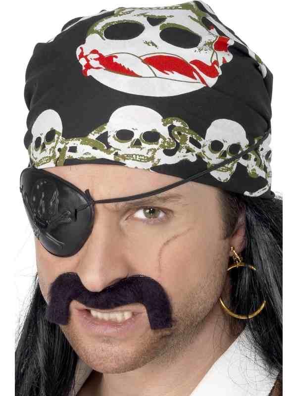 Piraten Bandana met Doodshoofden Print