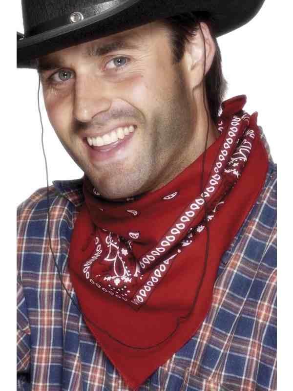 Cowboy Rode Bandana met Western Print