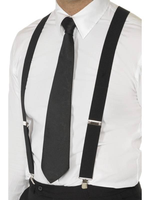 Zwarte Elastische Bretels