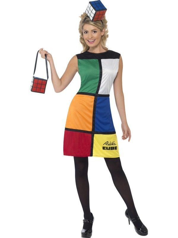 Rubik Cube Dames Verkleedkleding