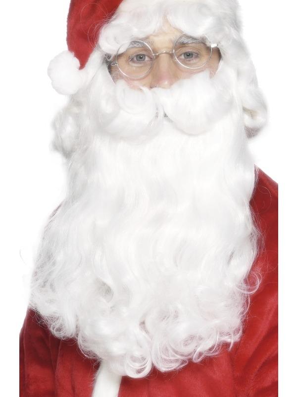 Deluxe Kerstman Baard 38 cm