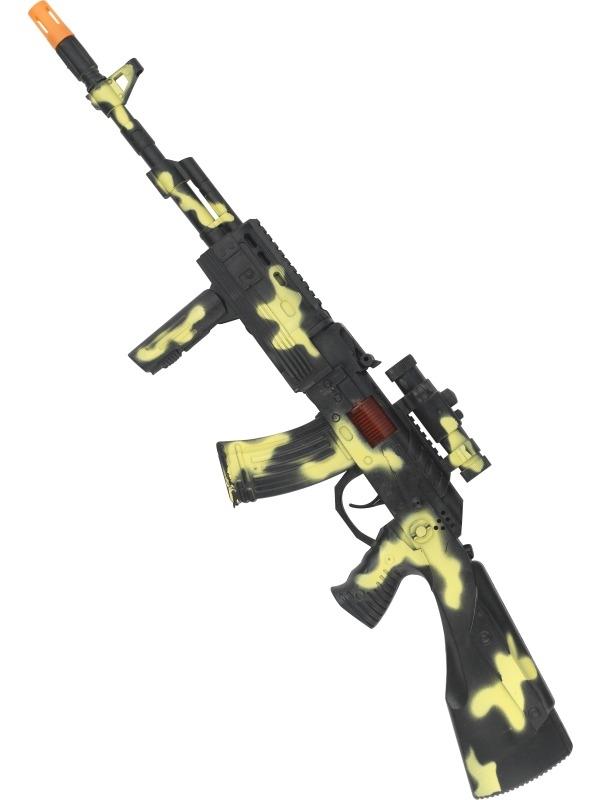 Plastic Army Geweer 59cm met Effecten