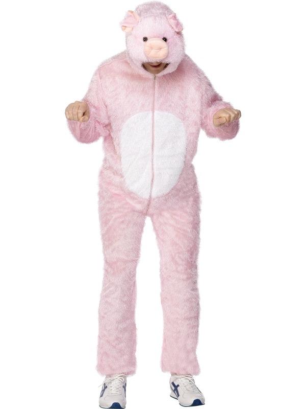 Varken Pig Heren Verkleedkostuum Jumpsuit