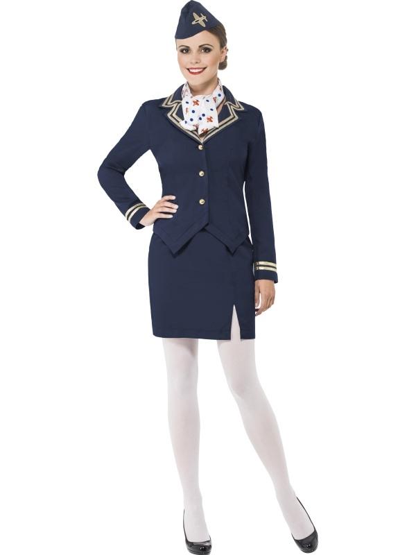 Airways Attendant Stewardess Dames Kostuum