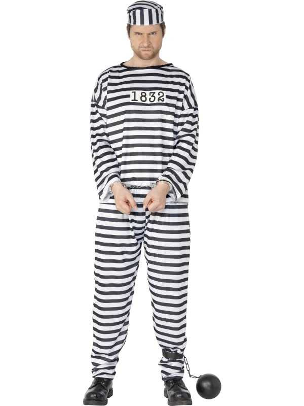 Gevangenen Boeven Heren Verkleedkleding