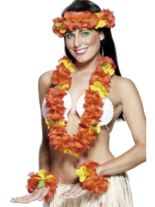 Hawaii Zomer Bloemenkrans 4-Delig De Toppers 2015