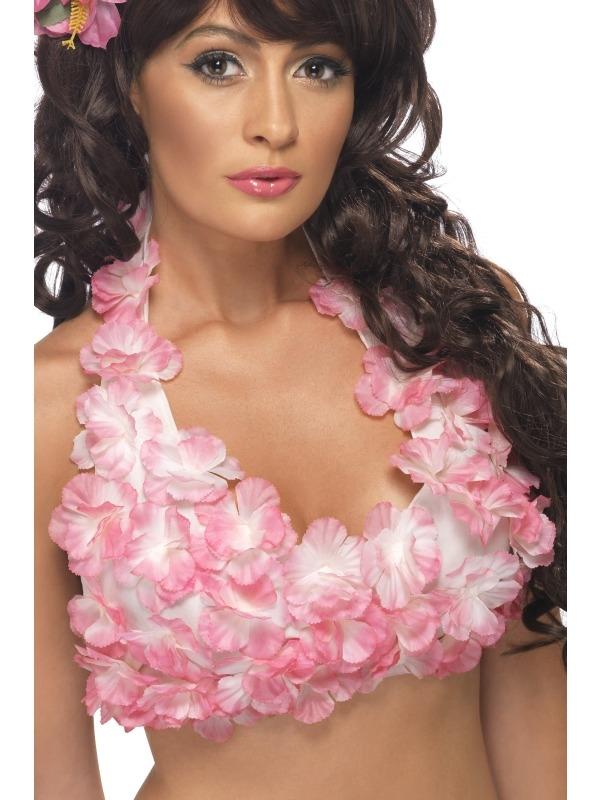Roze Bloemen Hawaii BH Haltertop