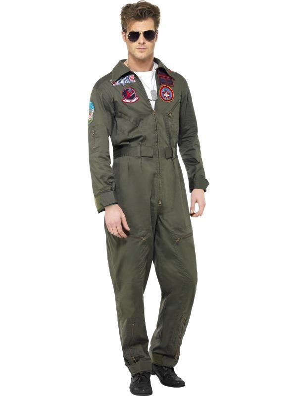 Top Gun Deluxe Heren Kostuum