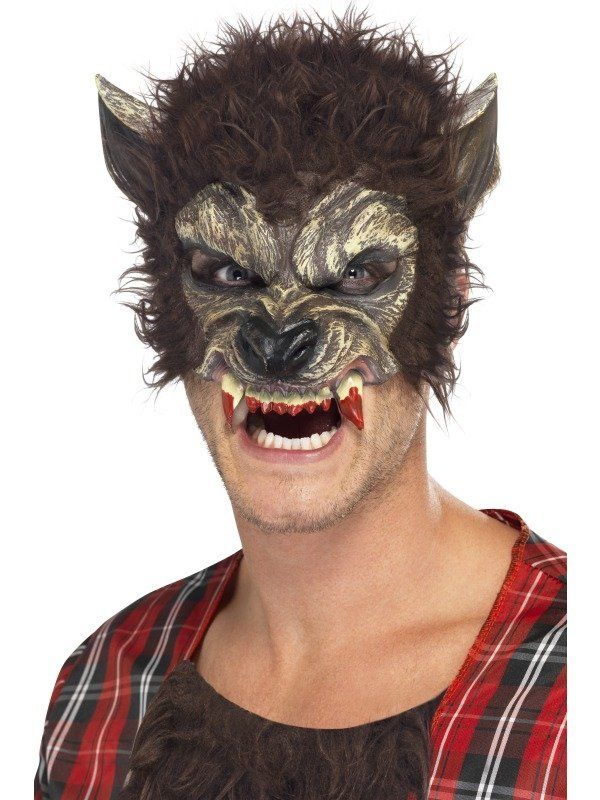 Half Weerwolf Halloween Horror Gezichtsmasker