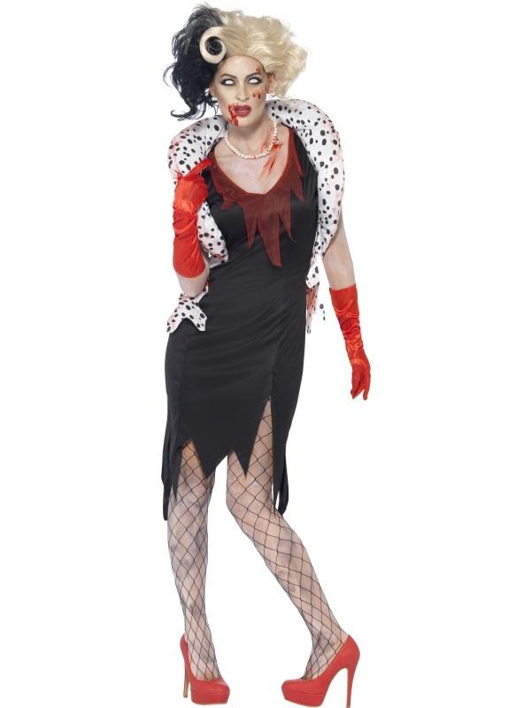 Zombie Evil Madame 101 Dalmatiers Horror Verkleedkleding