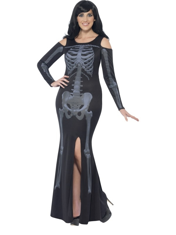 Curves Skeleton Skeletten Print Halloween Plus Size Kostuum