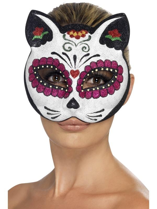 Sugar Skull Cat Masker