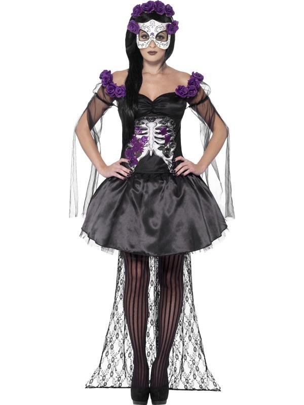 Day of the Dead Senorita Halloween Kostuum