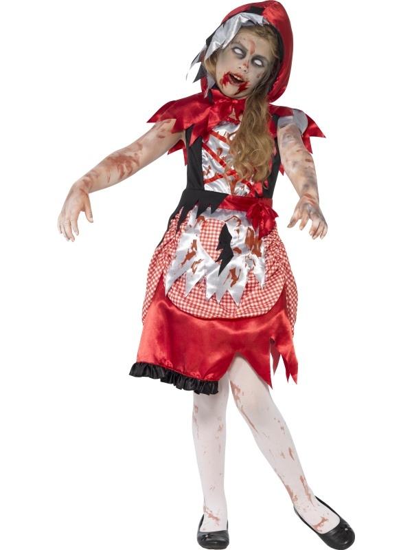 Zombie Miss Hood Halloween Kostuum