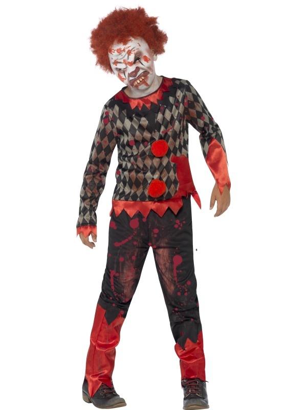 Deluxe Zombie Clown Halloween Kostuum