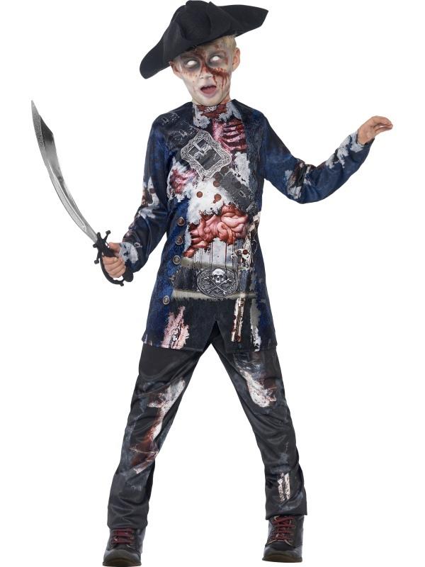 Deluxe Jolly Rotten Pirate Halloween Kostuum