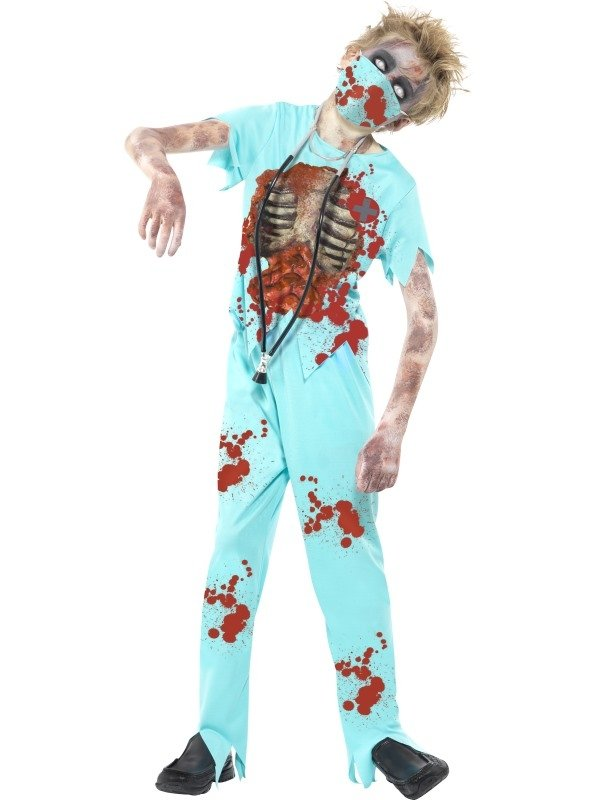 Zombie Surgeon Halloween Kostuum