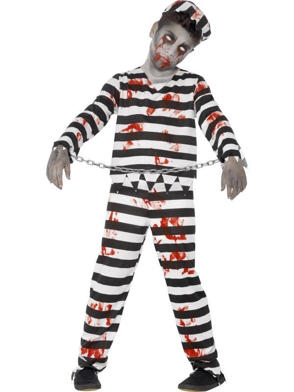 Zombie Convict Halloween Kostuum