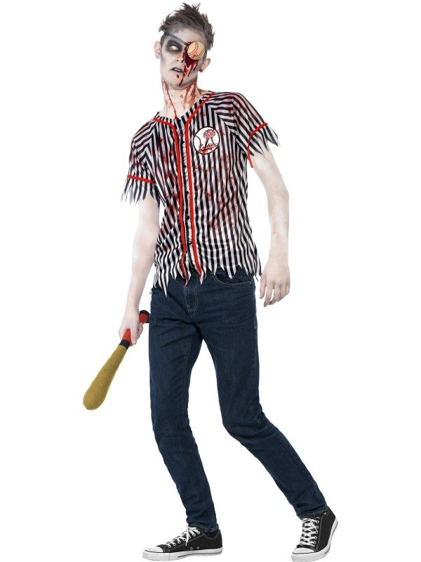 Zombie Baseball Player Halloween Kostuum
