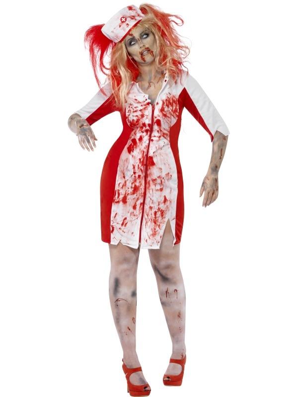 Curves Zombie Nurse Halloween Kostuum