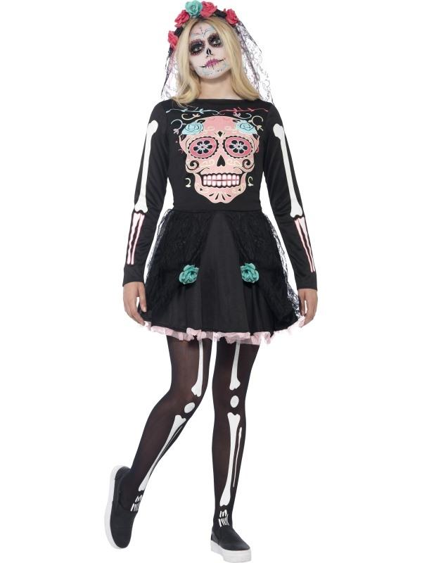 Sugar Skull Sweetie Halloween Kostuum
