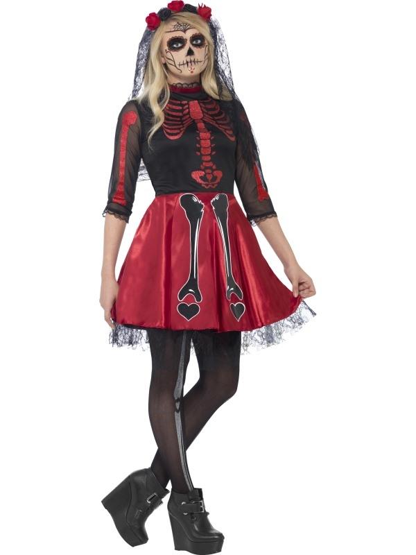 Day Of The Dead Diva Halloween Kostuum