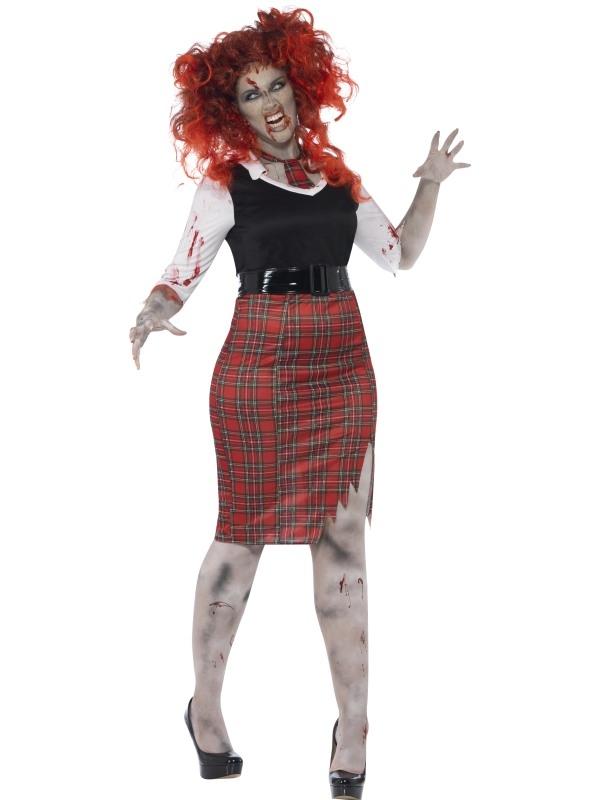 Curves Zombie School Girl Halloween Kostuum
