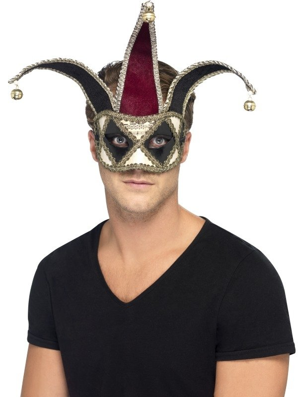 Gothic Venetian Harlequin Oogmasker